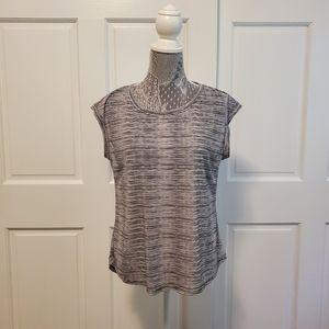 Elle short sleeve tee black and white stripes